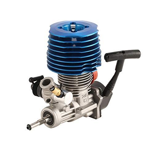 Lorenlli Ajuste HSP RC Car 1: 8 Buggy Monster Truggy Nitro Engine SH 28 CXP Motor M28-P3 4.57CC 3.8hp 33000 RPM Arranque de extracción de extracción Lateral