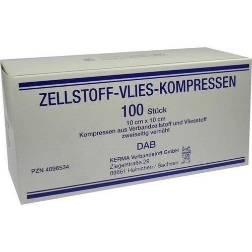 Zellstoff-Vlies-Kompressen 12-fach 10x10 cm unsteril 100 St.