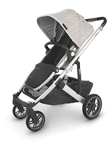 UPPAbaby Cruz V2 Stroller - Sierra (Dune Knit with Green & Blue/Silver/Black Leather)