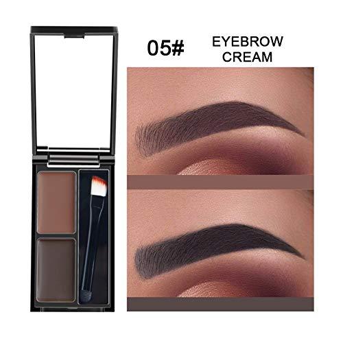 Symeas Palette de sourcils durable Deux couleurs Palette de poudre de crème pour les sourcils