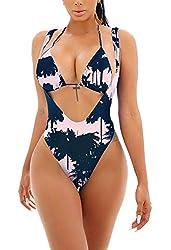 db33d76fdce2a Viottiset Women s Push Up Halter 2PCS Swimsuit Brazilian Triangle ...