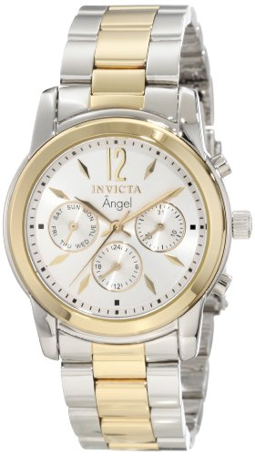 Invicta Women's 11735 Angel Silver Dial Two Tone Stainless Steel Watch