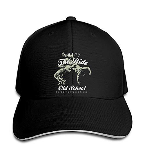 Baseball Cap hedonistische Wrestling Freestyle Unisex Snapback schwarzer Hystereseneinstellbarer Casual Hip Hop lustig im Freien Schirmmütze