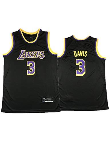 Kfdfns Maillot de Baloncesto NBA Lakers # 3 Davis para Hombre, Maillot Swingman, Tela Bordada, Transpirable y Secado Rápido