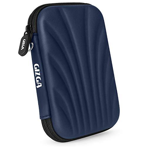 """GIZGA 2.5"""" Hard Drive Case Self Tattoo Semi Hard Shell (Navy Blue)"""