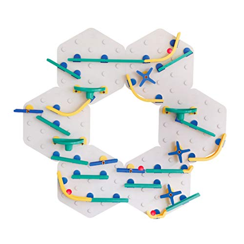 ORIBEL VertiPlay STEM Marble Run | Learning Toy | Stick & Play Wall Toy (Xtra Fun, Bold Crayon)