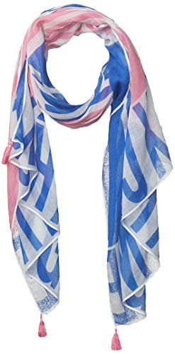 Armani Exchange AX Damen Bi-Color Square Logo Printed Scarf Modischer Schal, Mehrfarbig, Einheitsgröße