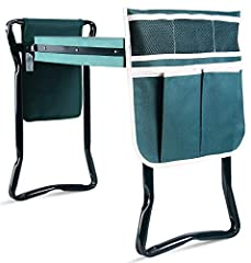 🍀 Dual Function Gardening Aid: This versatile device is the perfect way to ease gardening's physical toll. Raise the legs to make a comfy chair, or lay it flat on the ground for a supportive kneeling pad. Your back and knees will thank you! 🍀 Ultimat...