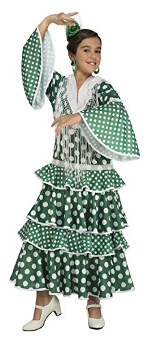 My Other Me–costume da flamenco Giralda per bambina, colore: verde (Viving Costumes) 7-9 años Verde