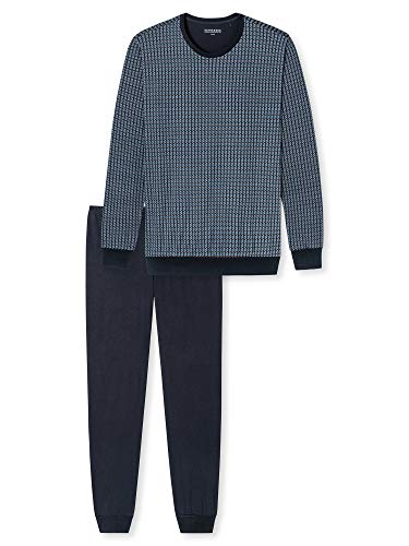 Schiesser Herren lang Zweiteiliger Schlafanzug, dunkelblau, 56