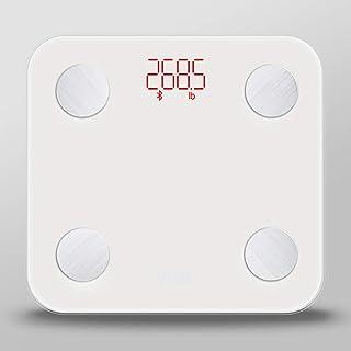 Báscula Grasa Corporal, Báscula de Baño Bluetooth hasta 180 kg con 8Datos del Cuerpo para 8 Usuarios (Peso, Grasa, Músculo, Agua, etc.)