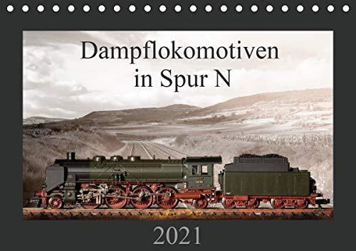 Dampflokomotiven in Spur N (Tischkalender 2021 DIN A5 quer)