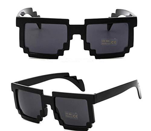 Hot 5 kleuren mode zonnebril kinderen cos spelen actie spel speelgoed minecrafter vierkante bril met eva koffer speelgoed voor kinderen geschenken, zwart