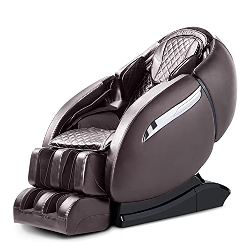 SL-Track Massage Chair, Zero Gravity 3D Robert Hand Massage Chairs, Full Body Massage Chair Recliner with with Heating Back, Bluetooth,Foot Roller and Air Massage System for Home Office (Brown)