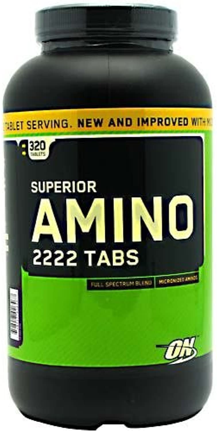 Optimum Nutrition Superior Amino 2222 Tabs, 320 Tablets (Amino Acids) (MultiPack)