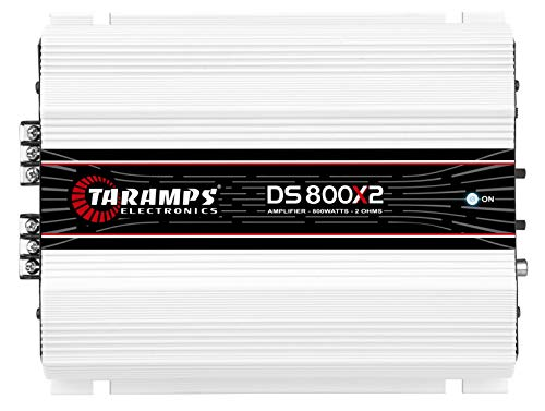 Taramps TARA-900714 DS 800x2 2 Ohms 2 Channels 800 Watts Car Audio Stereo Speakers Subwoofers System Amplifier, White