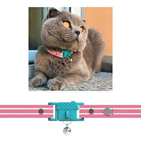 Kittyrama Collar para Gato, Estilo Bermuda. Ganador del Premio 'Cat Friendly'. Otros Estilos Disponibles. Visto en la Revista Vogue