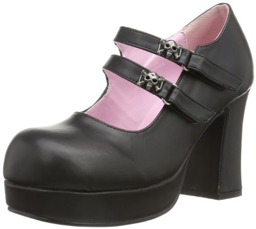 Demonia GOTHIKA-09  Damen Bootschuhe, Schwarz (Blk Vegan Leather), EU 38
