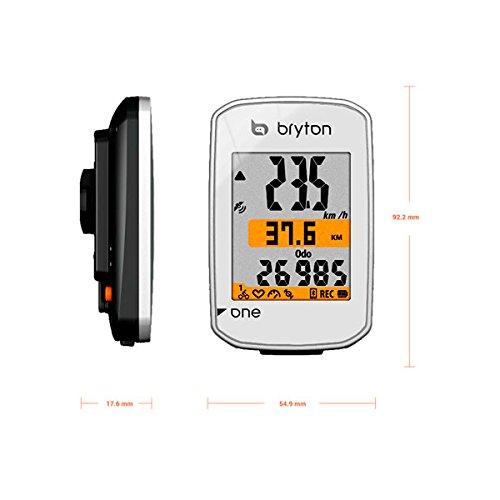 Bryton Compteur vélo GPS One, Adulte Mixte, 616110100000, Blanc, Taille Unique