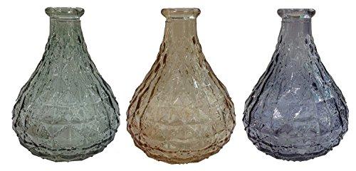 Botellas decorativas de cristal, 3 unidades, con corcho, decoración de farmacias, botellas de licor, botellas de farmacia, cristal vintage