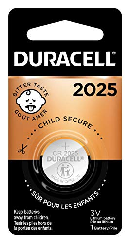 Duracell - 2025 3V Lithium Coin Battery - long lasting battery - 1 count (DURA-DL2025BPK,Aax1)