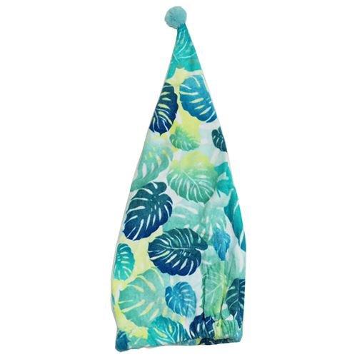 丸眞 キャップタオル 女の子柄 幅約23×長さ60cm ボタニカルブルーパターン 綿100% 0135007600