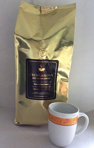 CREMA de KONA Roasted 100% Kona Coffee Beans...