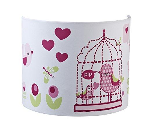 PUMPKIN Wandlampe Vogel rosa