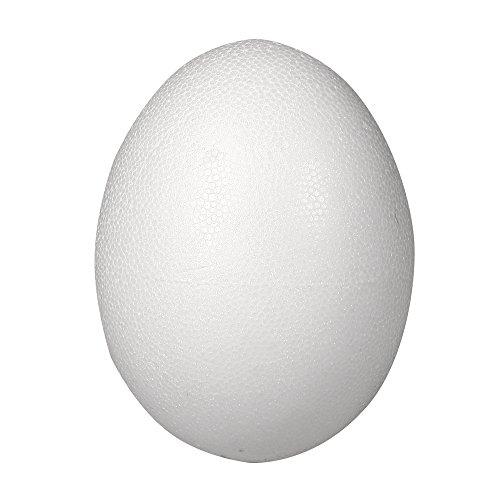 Rayher Styropor-Ei, 2 teilig, 26 cm, 2 Halbschalen, weiß, 23.5 x 40.5 x 58.5 cm