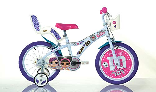 Dinobikes Kinderfahrrad Bicicleta, Niñas, Blanco, 16