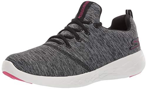 Skechers Women's GO Run 600-15092 Sneaker, Black/White, 6.5 M US