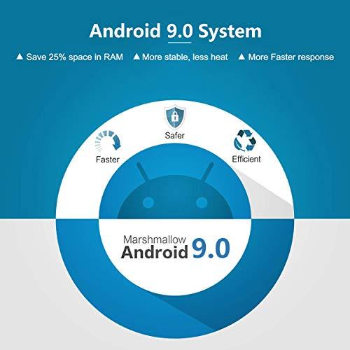 Android TV-Box, T9 Android 9.0 TV-Box mit Mini-Tastatur 4 GB RAM 32 GB ROM RK3318 Bluetooth 4.0 Quad-Core Prozessor Cortex-A53 2.4/5.0 GHz WiFi kompatibel mit 4K2K Ultra H.265 Smart-TV-Box.