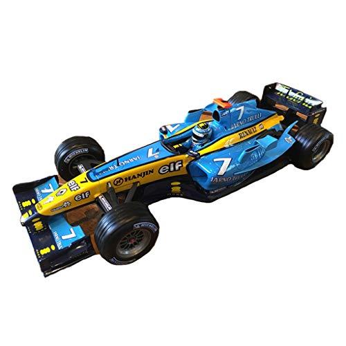 GAOQUN-TOY Modèle de Voiture en Alliage de Formula F1 Racing au Format 1:18 Authentique (Couleur : Bleu, Taille : 23CM*9CM*4CM)