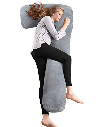 AngQi Full Body Pregnancy Pillow, Maternity Pillow for Pregnant Women and Side...