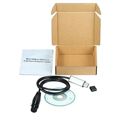 OIUY USB a DMX512 Consola Estone Adaptador de Interfaz USB a