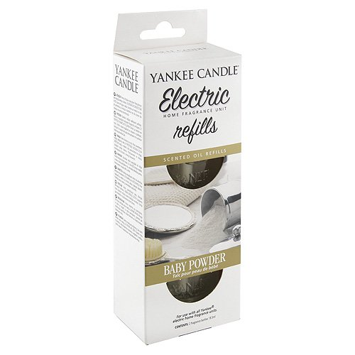 YANKEE CANDLE 1509032E Baby Powder diffusore Elettrico Doppio Confezione di Ricarica, Multicolore, 4.5x7x17 cm