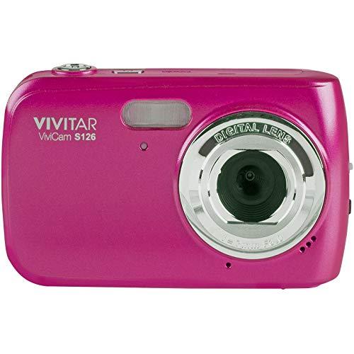 Vivitar ViviCam S126 Digital Camera (Pink) with 16GB Card + Case + Mini Tripod + Kit