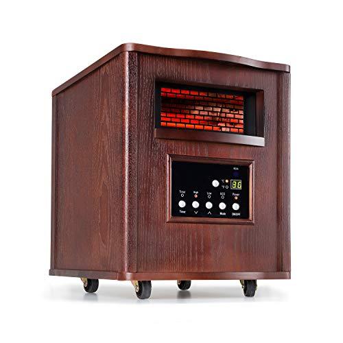 Klarstein Heatbox Calefactor infrarrojo - Aparato portátil, Calefacción con ruedecillas, 4 fuentes de calor, 1500 W, De 5 a 30 °C, AntiDryAir Heat,