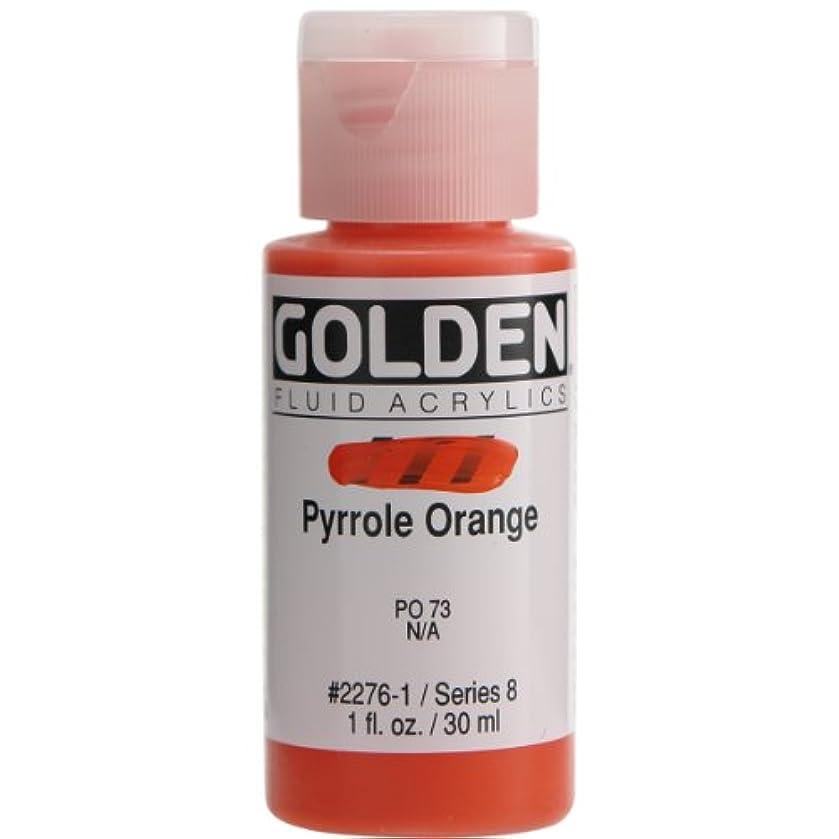 Golden Fluid Acrylics - Pyrrole Orange - 1 oz Bottle