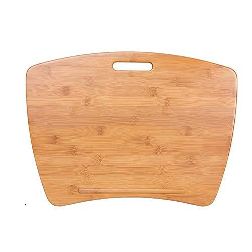 Soporte Portátil Tabla estación de Trabajo Bandeja de bambú Mesa de Ordenador portátil de la Rodilla Esponja Perezoso Almohadilla Plana en Movimiento Mini (Size : 37 * 54cm)