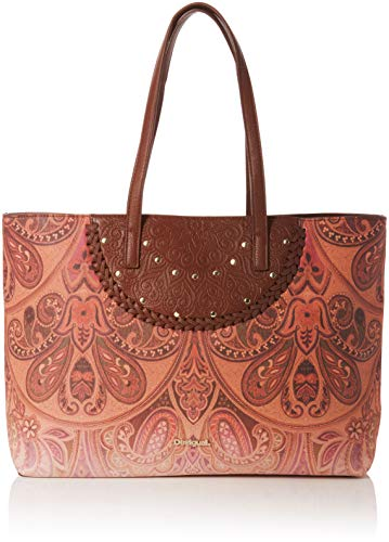 Desigual Damen Bols_Winter Valkyria_Redmond Schultertasche, Braun (Leather Brown), 13x29x38 cm