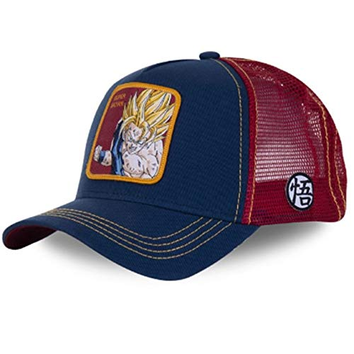 Neue Super Snapback Baseball Cap Männer Frauen Hip Hop Papa Mesh Hat Trucker Hat-SUPER Saiyan
