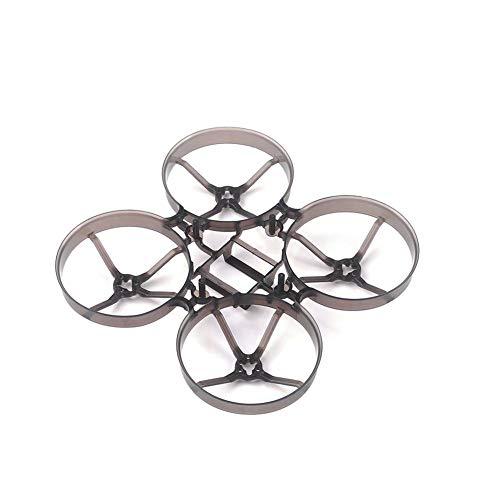 Finelyty Mobula7 V2 Kit De Bastidor De Cuadros Mejorado Bwhoop75 75 Mm Encendedor para Brushless Tiny 2S Mobula 7 RC FPV Racing Drone Quadcopter (Negro Transparente)