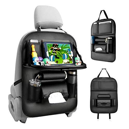 KDWOA Auto Rückenlehnenschutz, 1 Stück Autositz Organizer, Multifunktionale Auto Aufbewahrungstasche für Auto Ordentlich, Rücksitz Organizer Auto mit ipad Tablethalter