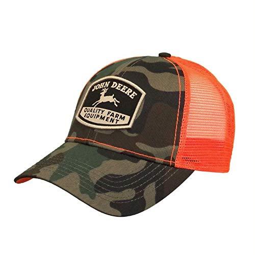 John Deere Camo HI-Viz Hat W/Retro Logo, Green