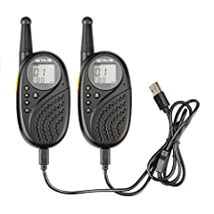 Excellent ABS material makes the small walkie talkies more stable and anti-broke during outdoor or indoor activities; Whether you're hiking; hunting; or just trying to keep track of your fellow explorer; this is a great choice of two-way radio Crisp ...