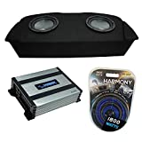 (2) Harmony Audio HA-R104 Subwoofer Dual 10' Sub Box Bundle with Harmony Audio HA-A400.1 Amp Compatible with 2003-2008 Nissan 350Z Coupe Hatch Fit