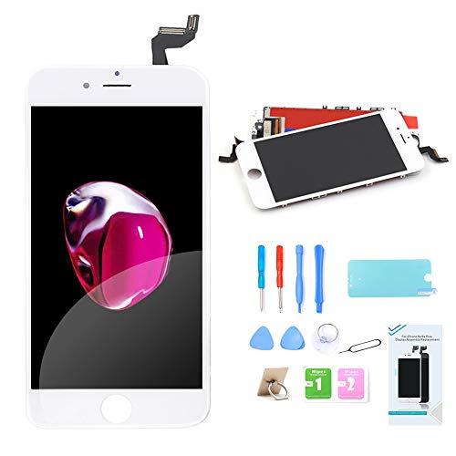 Ibaye Display LCD Touch Screen Frame per iPhone 6S Plus (5,5 Pollici) Vetro Schermo Kit Smontaggio Trasformazione Completo di Ricambio (Bianco)