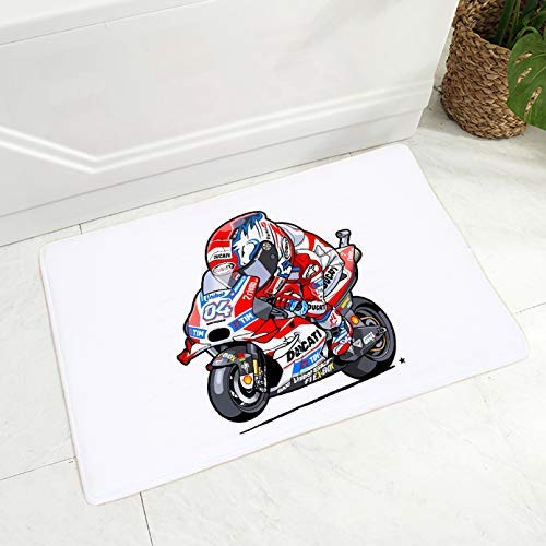 Alfombrilla de piso para motocicleta de dibujos animados para habitación de niños, dormitorio, antideslizante, decoración móvil, alfombra de franela suave, 50,8 x 81,3 cm