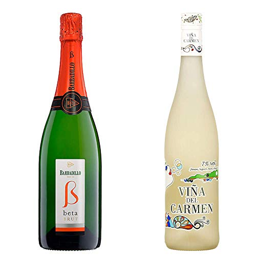 Beta Brut y Viña del Carmen - Vino Blanco - 2 botellas de 750 ml
